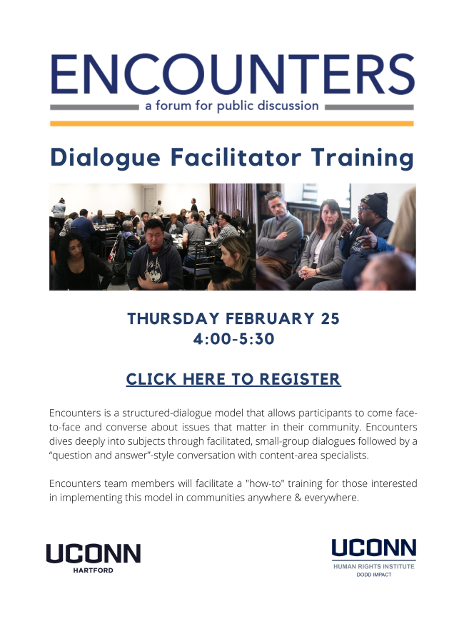 Image shows the flyer used to promote the training event.